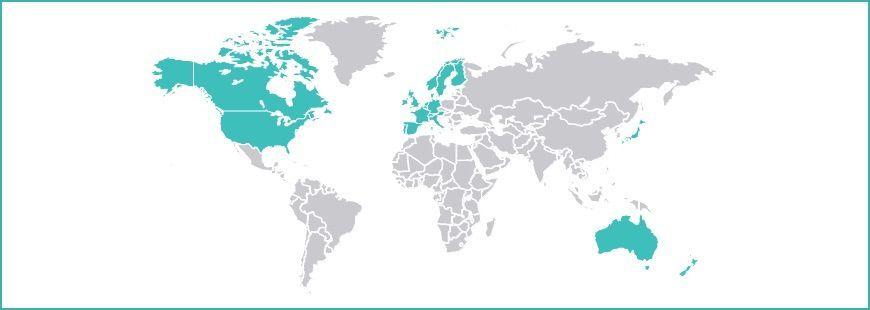 MSCI World mapa de países
