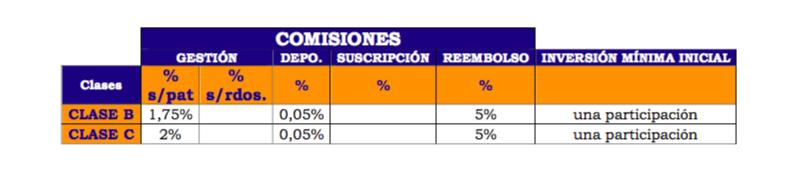 Comisiones del fondo Magallanes Microcaps